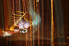 Behind the lines (PictureWendy) Tags: road light lightpainting color colors lines car canon painting eos movement highway darkness stripes 500d canoneos500d dwcfflightpaint