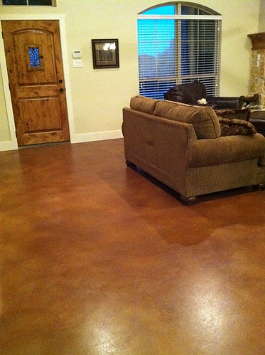 Anyone With Stained Concrete Floors