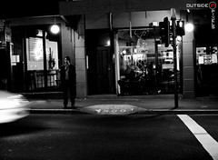 * (Jack Chauvel   http://www.jackchauvel.com) Tags: street people blackandwhite bw white black night outside photography evening photo blog nikon photographer sydney australia nsw 28 newtown pixels f28 streety kingst 1755mm streetshooting twitter d700 nikon1755mm28 nikond700 jackchauvel outsideinpixels httpwwwoutsideinpixelscom httpwwwtwittercomoutsideinpixels