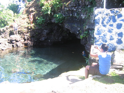 a natural freshwater pool located after Saoluafata at Piula Methodist Theological College