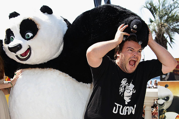 Jack Black being Crushed by po