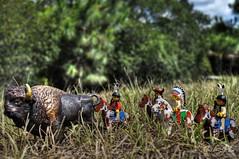 Native Hunt (Trucker Gloom) Tags: buffalo lego native indian hunt