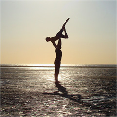 Rob & Frankie (PeterMorris1) Tags: beach silhouette dance southport