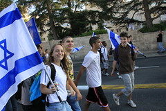 30.5.2011 Faces at the Jerusalem Flag march parade (Shachar Laudon pics) Tags: girls boys march israel faces flag jerusalem may smiles flags parade patriotism   nationality jerusalemday