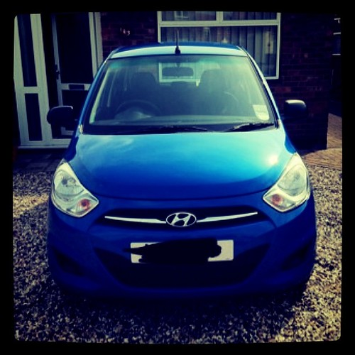 My new car! Pocked it up today!  Hyundai i10!