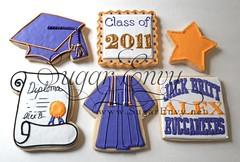 2011 Graduation Cookies Large (Sugar Envy) Tags: cookies set star cookie diploma graduation highschool cap gift gown favors buccaneers classof 2011 sugarenvy sugarenvynet jackbritt