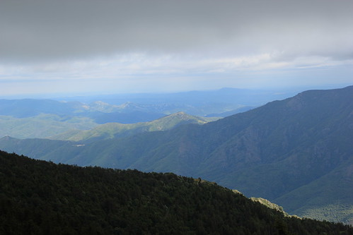 view from Mont Aigoual