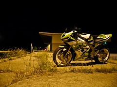 at night! (StriciKanegr) Tags: 2005 2003 green 2004 church st out big mod hungary ninja quality samsung 2006 burn 600 stc 500 custom hdr kawasaki exhaust paintjob debrecen zx footage zx6r 636 zx636 nagytemplom leovince monsterslip procejct