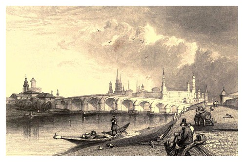 016-Puente de piedra en Moscow-A journey to St. Petersburg and Moscow 1836- Ritchie Leitch