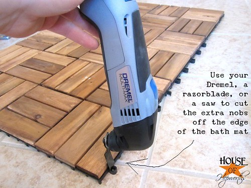 Create A Spa Bath Mat Using IKEA Outdoor Decking House Of Hepworths - Does ikea have flooring