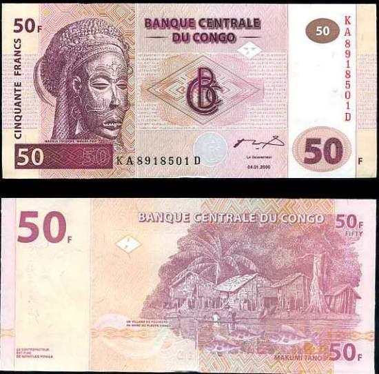50 Frankov Kongo Dem.Rep. 2000, Pick 91