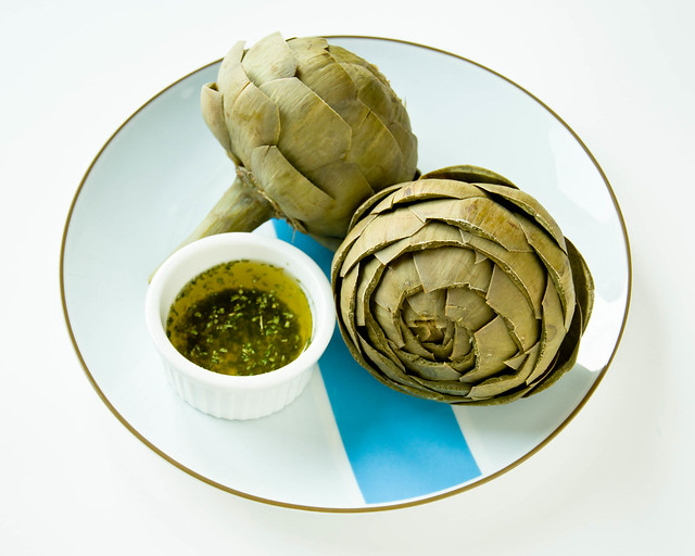 Artichokes with Herb Butter