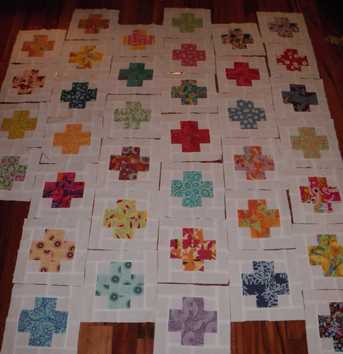 Modern Crosses Quilt - 37 blocks