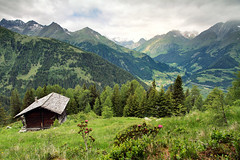 motschendaber alp (Youronas) Tags: mountains alps forest landscape austria tirol sterreich nationalpark weide cottage meadow valle hut alpini alpen landschaft wald alp virgen tyrol tal osttirol hohetauern summits tauern virgental easttyrol almwiese grosvenediger uppertauern virgenvalley