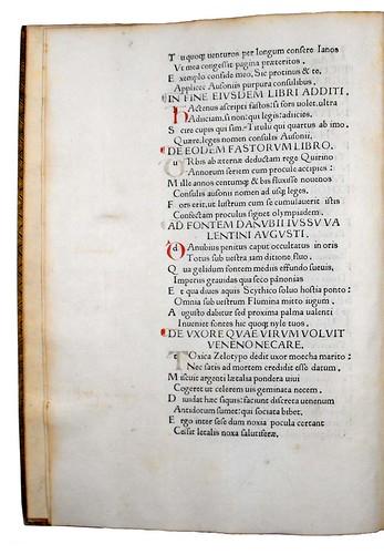 Variant in Ausonius, Decimus Magnus: Opera
