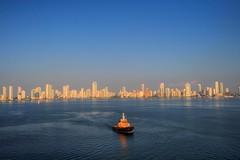 """New"" Cartagena (Bill Humason) Tags: sky southamerica water colors colombia cartagena hdr nikond90 3shotbrkt"