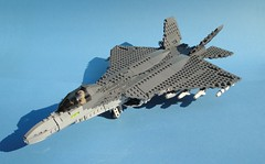 F-24A (Matt Hacker) Tags: fighter lego jet stealth gen jas 5th 43 multirole sparv