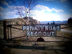 Private Road (BlackAndBlueBeauty) Tags: road tree out private montana butte keep