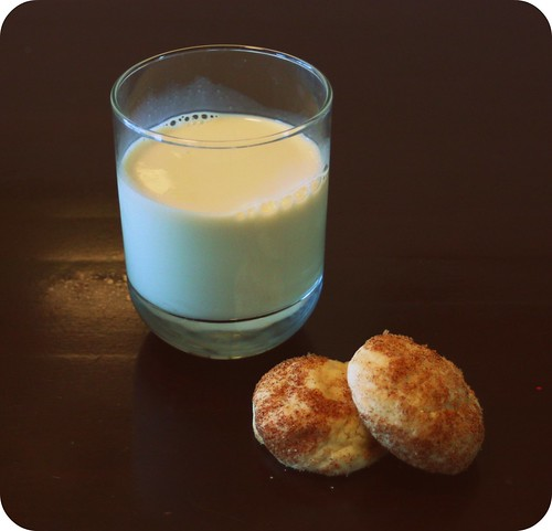 snickerdoodle and soy milk