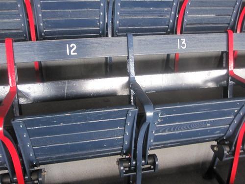 Visiting Fenway park - vintage seats