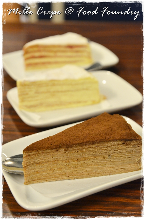 Mille Crepe Cakes @ Food Foundry