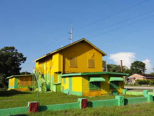 Yellow and green house