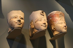 Three Heads of Osiride Statues of Hatshepsut (BrassIvyDesigns) Tags: archaeology ancient egyptian artifact metropolitanmuseum anthropology