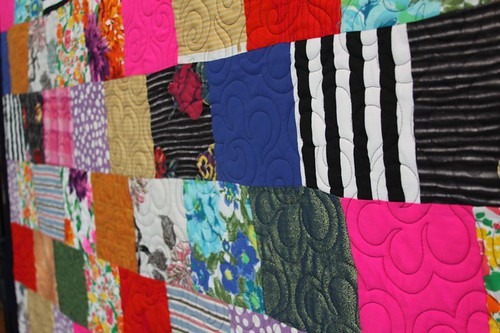 mamaka mills recycled quilte, custom memory quilts, recycled fabric quilt 5