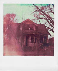 Monster House ([jonrev]) Tags: house color abandoned film home rotting project polaroid sx70 1 ruins farm falling photograph instant push alpha decrepit decaying impossible apart collapsing px70