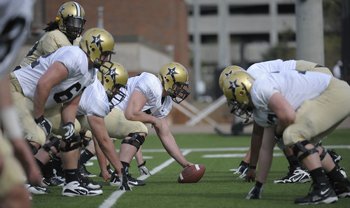 365@VU: 81 - Vanderbilt football team holds first Spring practice in full pads at the John Rich practice facility.