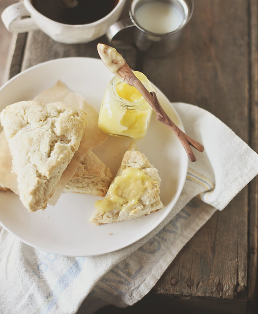 cream scones with meyer lemon curd