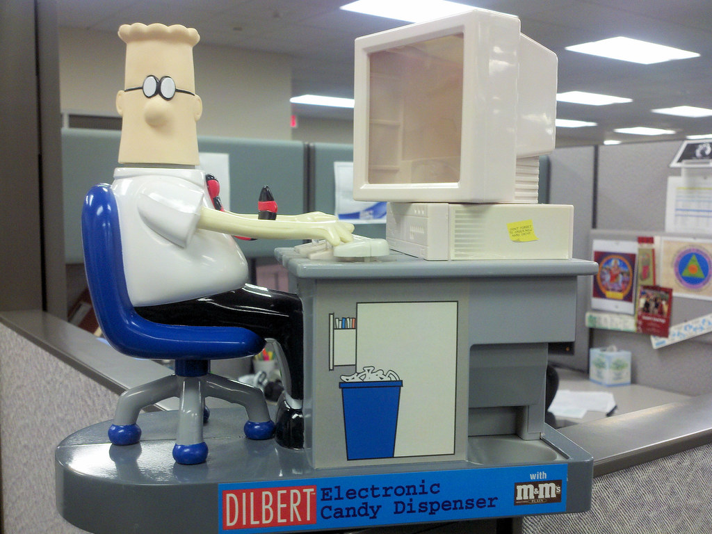toy office. Dilbert Office Toy In The (pchow98) Tags: Work Fun Badge E