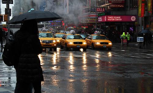 Cabs, rain
