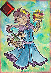 Watercolour ATC - maart 2011 (yaeshona) Tags: atc cards diy artist handmade postcrossing trading postcards create swapbot