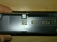 Small QR code on HP cartridge