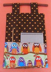Corujinhas * (Estefânia Zica) Tags: owl singer coruja lápis canela caderno tecido portarecado portatudo fanacoelho