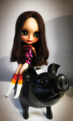 Carmen and the pig...