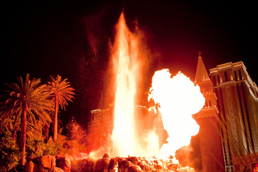 Mirage Hotel Volcano