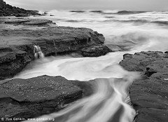 Bungan Beach, Northern Beaches, Sydney, NSW, Australia (ILYA GENKIN / GENKIN.ORG) Tags: ocean travel sea blackandwhite bw beach nature water rock landscape coast seaside marine surf tide shoreline sydney australian scenic wave australia scene coastal shore nsw beaches newsouthwales waters coastline oceans northern seashore seacoast seas foreshore northernbeaches bungan bunganbeach
