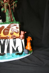 "Safari cake with tree and smash lion • <a style=""font-size:0.8em;"" href=""http://www.flickr.com/photos/60584691@N02/5585711195/"" target=""_blank"">View on Flickr</a>"