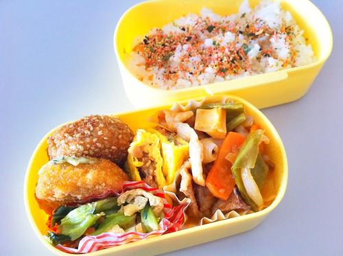 今日のお弁当 No.140 – 鮭わかめ
