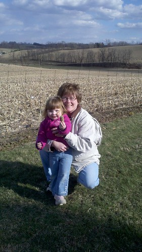 Lucy and Grandma out geocaching