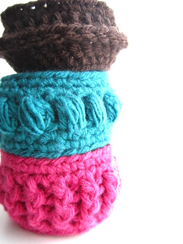 Chunky crochet bangles by Bohemian Hooks