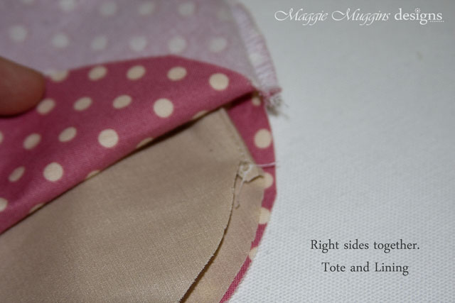 Attach Lining to Tote