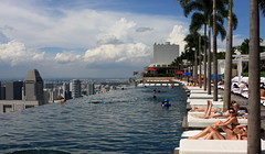 The Pool with the Million Dollar View (A Sutanto) Tags: city trees pool skyline marina swimming bay singapore asia view infinity palm edge sands sunbathing sunbathers