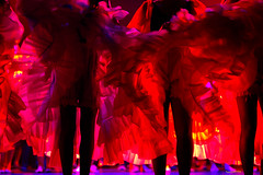 French Cancan (zebrazoma) Tags: show red girl french rouge dance dancing danse cancan 70200 spectacle danceuse 1000iso d700