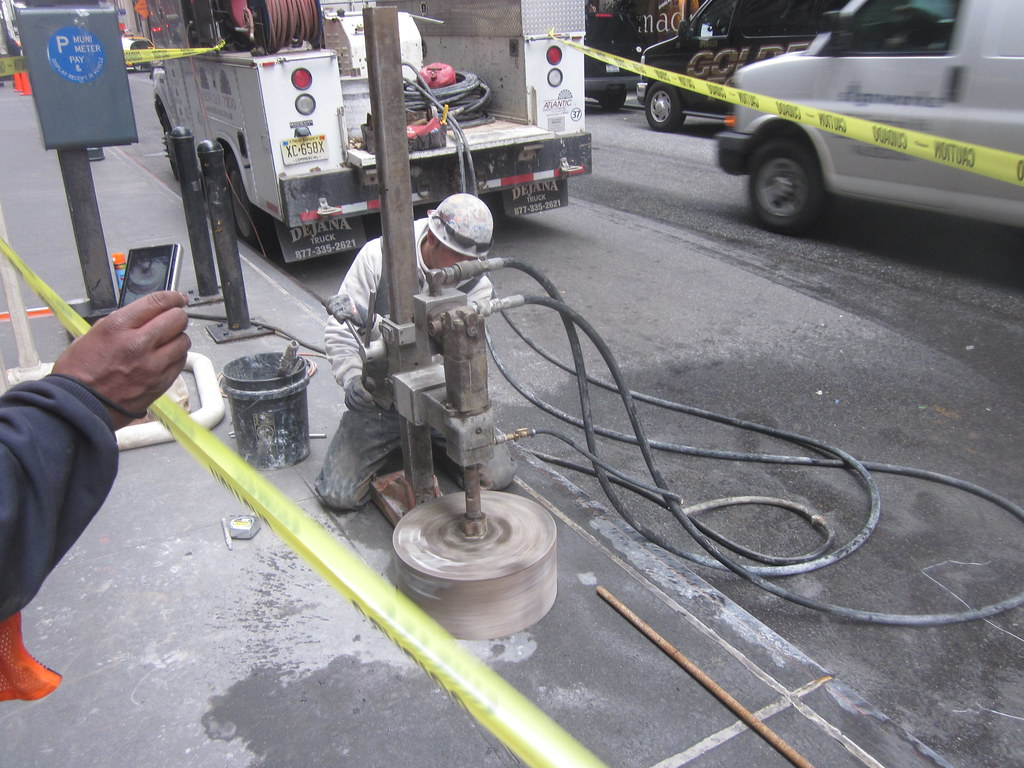 CM008A-Coring for Fuel Oil Fill at 46th Street Side Walk  (4-7-11)