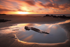 Cornwall (@Gking_photo) Tags: longexposure sunset sea england sky seascape reflection beach water pool rock clouds canon photography coast sand cornwall imac coastal westcountry rockpool coastlines nd110