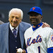 Ralph Kiner and Mookie Wilson