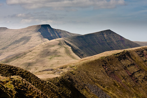 Pen Y Fan & Crybin from Craig Cwareli